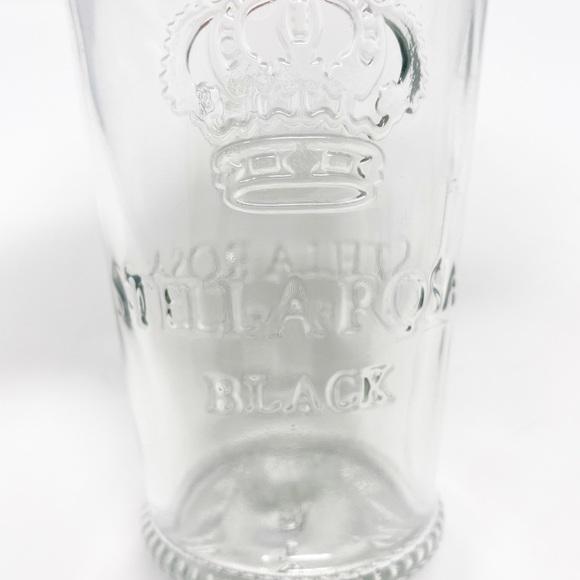 STELLA ROSA Black Clear Embossed Drinking Glasses